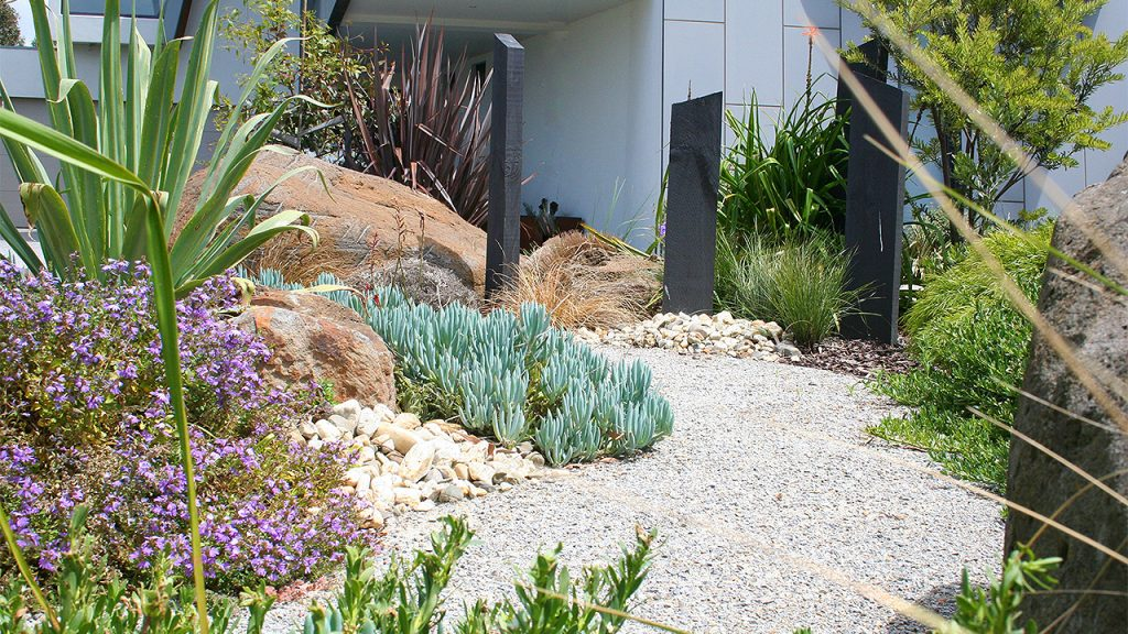 This Williamstown Coastal Garden Was Designed To Be Easy Care And Suit The  Beachside Conditions. Large Rocks Were Already Onsite From The Pool Dig Out  ...